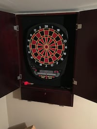 Electronic dart board with cabinet  Oregon, 43616