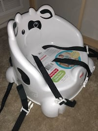 white and black Chicco booster seat Beltsville