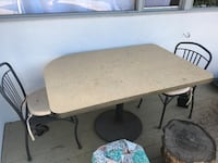 White and brown wooden table and chairs Escondido, 92029