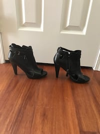 Leather strappy heels size 6.5