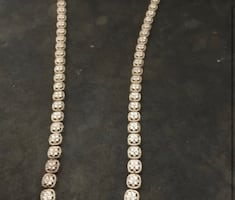 Diamond filled gold chain