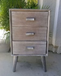 NEW 3 Drawer Accent Side Table Nightstand Moorpark, 93021