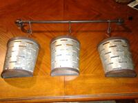 Rustic Metal hanging cady/ great condition