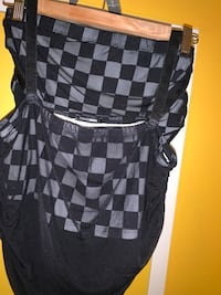 BRAND NEW FASHIONNOVA CHECKERED WITH SHEER COVER MATCHING SET