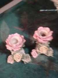 Old flower candle holders Anderson, 96007
