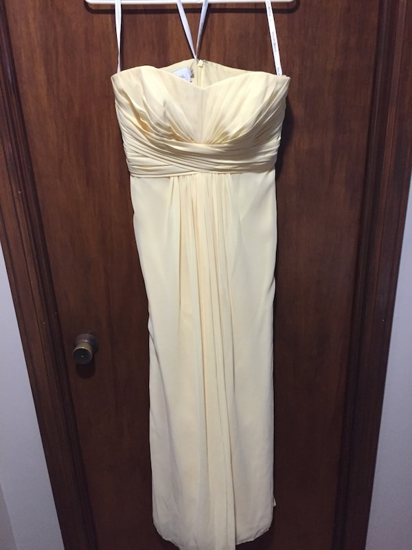 Used Canary Yellow Size 8 Bridesmaid Dress Davids Bridal For Sale