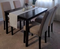 Wood dining table espresso ARLINGTON