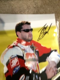 Tony Stewart autographed picture