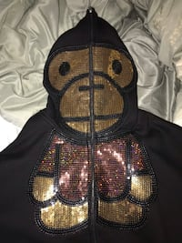 baby milo zip up hoodie (bape) size L  Port Coquitlam, V3C 1T2