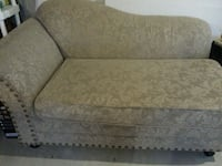 beige and white floral fainting couch Kitchener, N2R 1E9