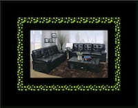 U6900 black bonded leather sofa and loveseat Herndon, 20171