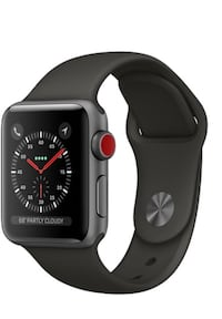 space gray aluminum case Apple Watch with black sport band Potomac, 20854