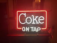 """Very Rare """"Coke on Tap"""" all old style NEON very rare light you won't find this one Coke collectors Hagerstown, 21740"""