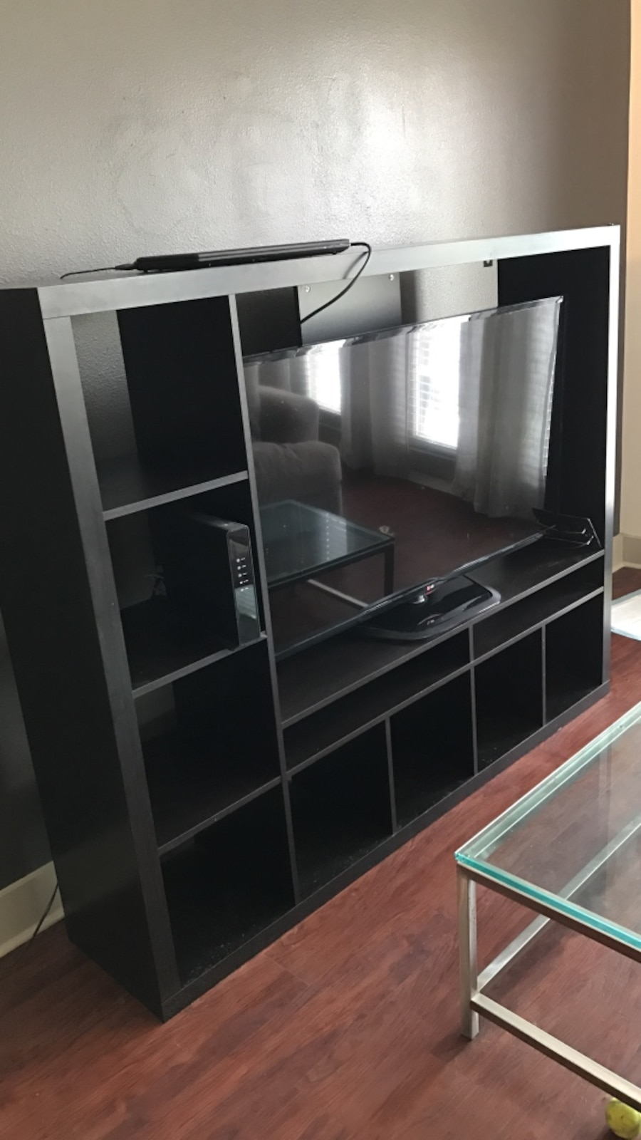 Used ikea entertainment center tv not included in dallas for Ikea in dallas