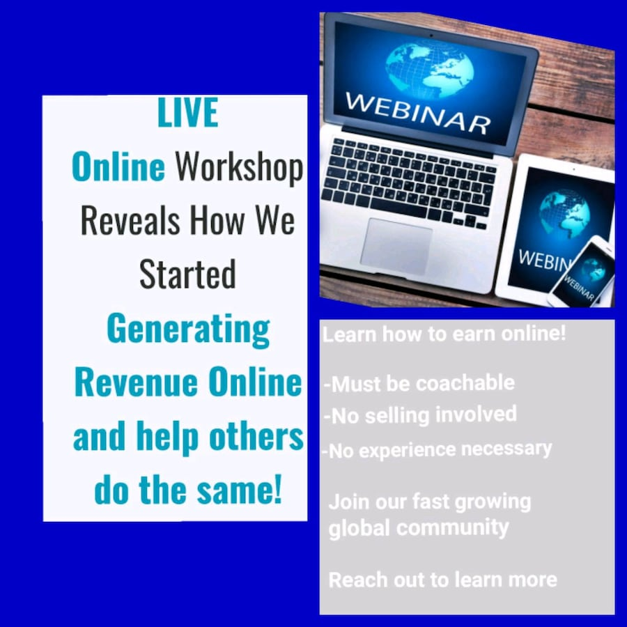 Learn How to Earn ONLINE- From Home or on the Go