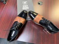 pair of black leather loafers CALGARY