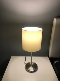 stainless steel base white shade table lamp Sumter, 29154
