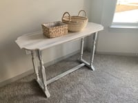 Side table- white shabby chick