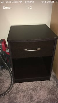 Black side table with drawer Edmonton, T6W 3C7