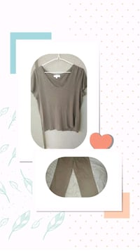 Tan dress pants & crossover design shirt