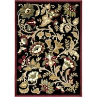 "Devore Black Rug 94"" x 130"" Colonial Heights, 23834"