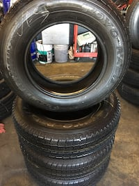 Set 225/70 R16 TOYO TRANSPATH A11 used 99% life $285 includes professional installation and tax. Whittier, 90605