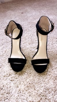 Pair of black open-toe ankle-strap heels Baltimore, 21225