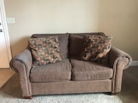 brown fabric 2-seat sofa Orem, 84057