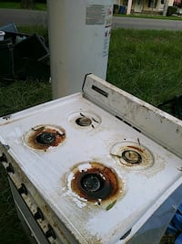white and black gas stove Anniston, 36201