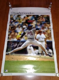 Dwight gooden autograph original 23x35 West Babylon, 11704