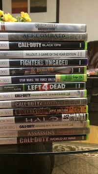 Assorted xbox 360 game cases Vancouver, V5P 1L4