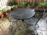 Wrought Iron French Bistro Set (Patio deck Furniture) 250.