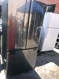 Samsung compact size french door black Stainless steel  new condition