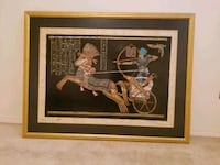 Egyptian painting in rare Papyrus paper