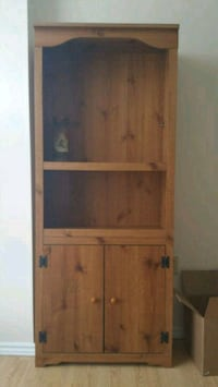 brown wooden cabinet with shelf Cambridge, N1T 1M6