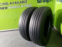 Two used LT 225/75/16 BFGOODRICH COMMERCIAL T/A  813 mi