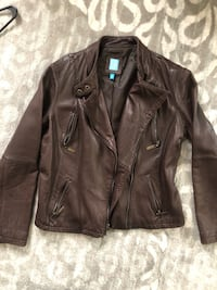 COOP Barney's NY Leather Jacket - Women's Large Silver Spring, 20901