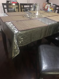 rectangular brown wooden table with chairs Toronto, M1C 4S6