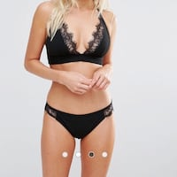 ASOS Wolf & Whistle Black Lace Two Piece Bikini Swimsuit Vancouver, V5R