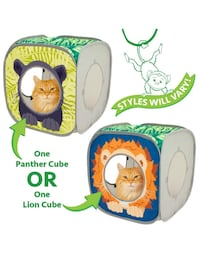 Kitty City Lion Play Cubee, Cat Cube, Play Kennel, Cat Bed, Jungle Cat House brand new Hamilton, L8W 2M4
