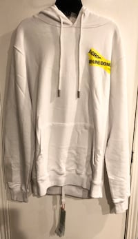 white and gray zip-up hoodie Los Angeles, 90069