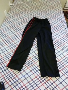 black and red pants