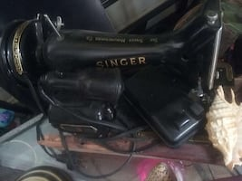 black Singer sewing machine