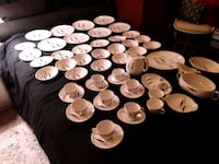 white-and-brown ceramic dinnerware set 835 mi