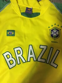 Green and yellow brazil soccer jersey