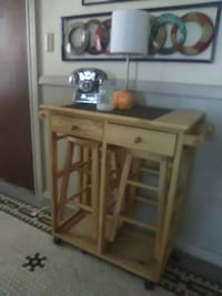 brown wooden desk with hutch North Providence, 02904