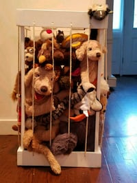 New Hand Crafted Wood Stuffed Toy Storage  Pleasantville, 10570