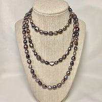 Genuine Grey Baroque Pearl Necklace Ashburn