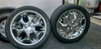 4 rims and tires 5x100mm bolt patern 20s