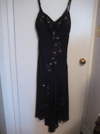 Moving Sale - Sexy all season black dress, lined & beaded in front. TORONTO